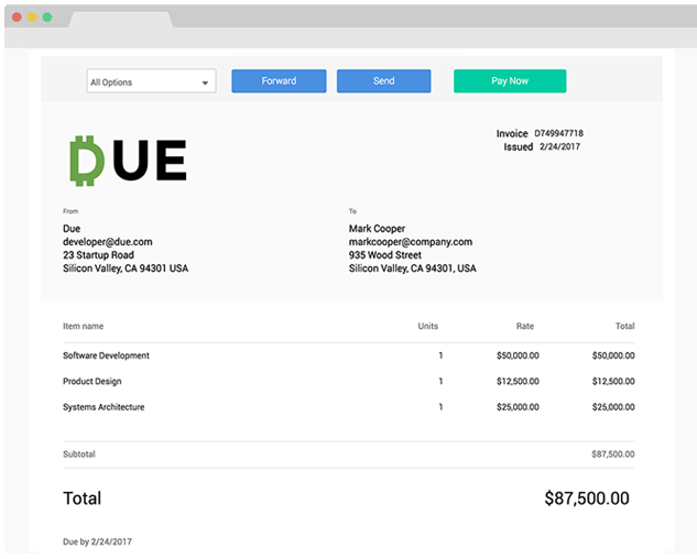 Send An Invoice Free Online Invoicing For Small Businesses By Due - Free invoice and estimate software app store online