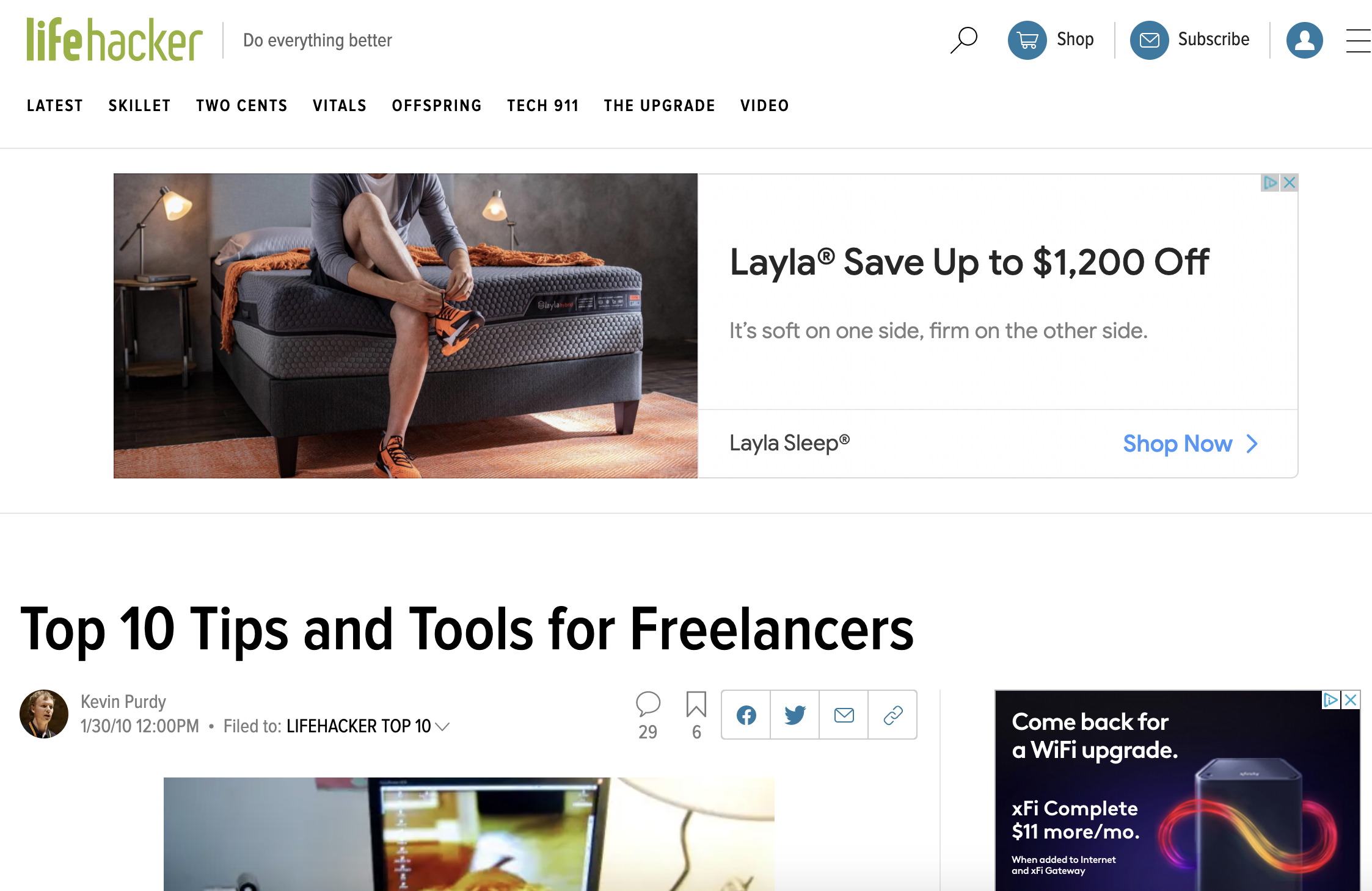 Lifehacker - Tips and Tools for Freelancers