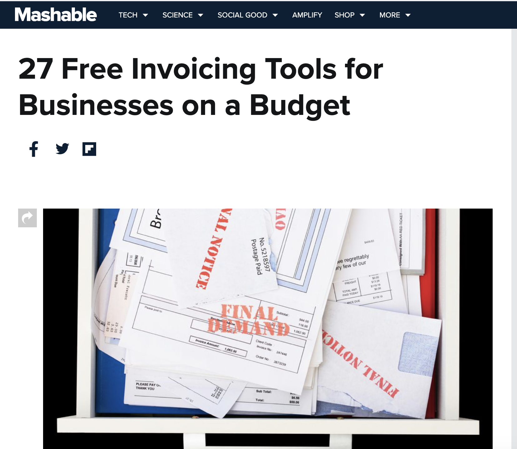 Mashable - Tools for Businesses on a Budget