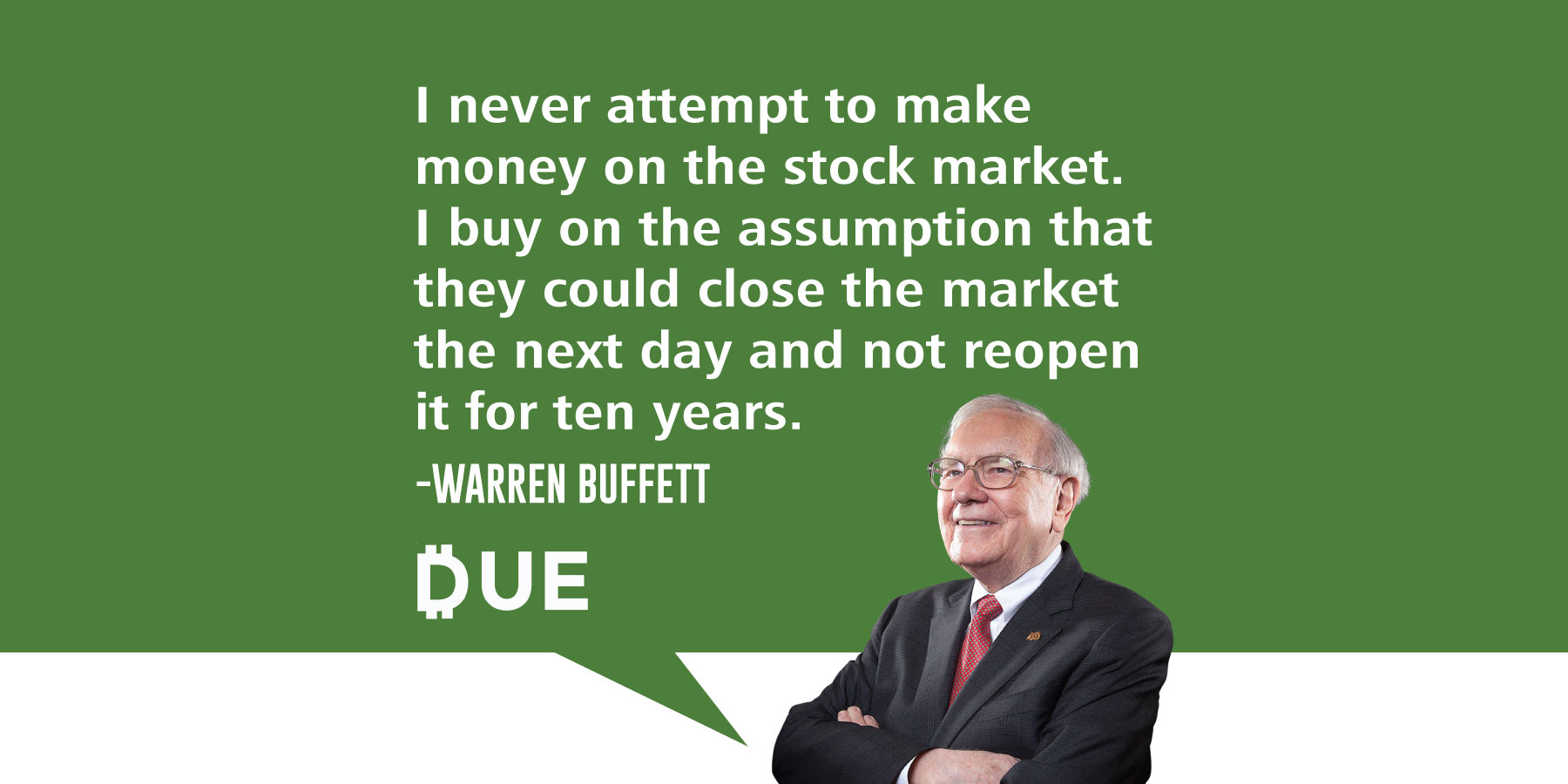 Warren Buffett Quote - Look For Quality, be Cautious