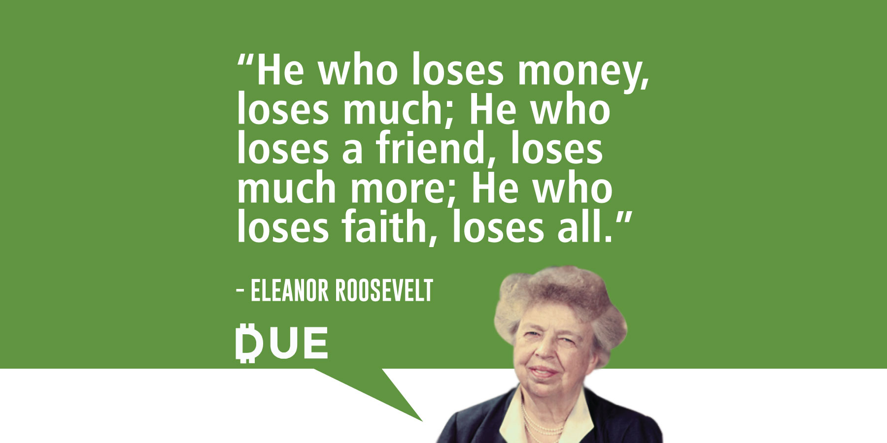 Eleanor Roosevelt Quote - Keeping Your Priorities Straight