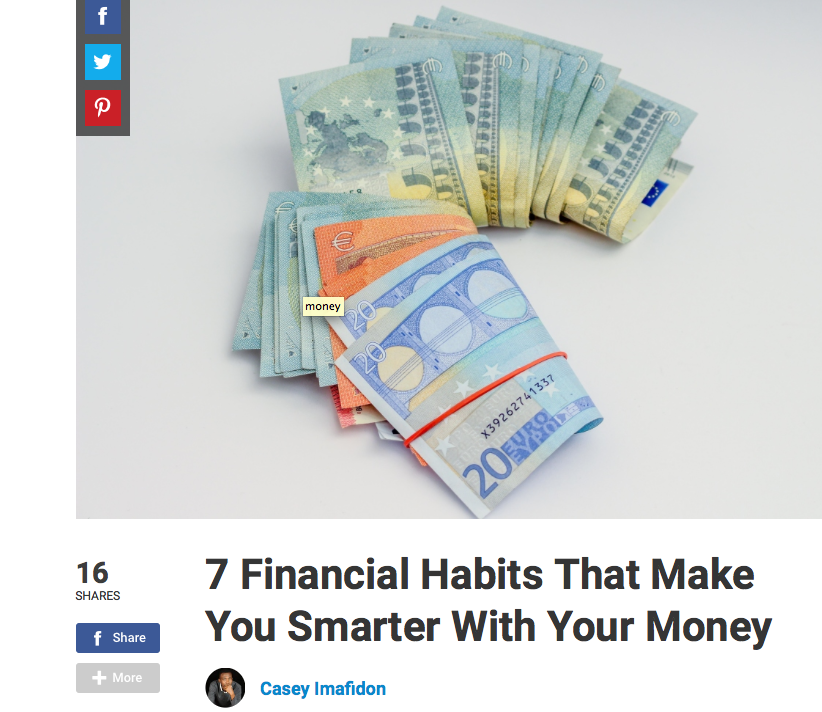 Financial Habits Smart with Money