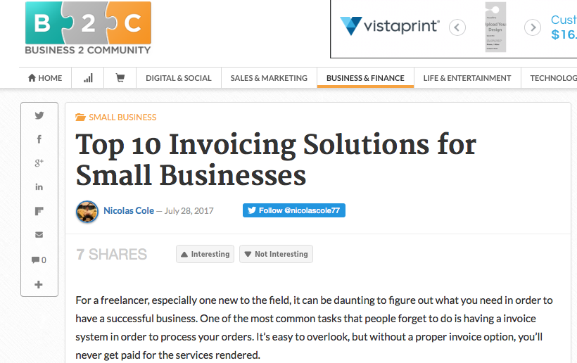 Small Business Invoicing Solutions